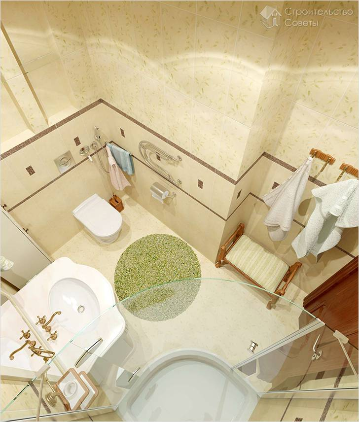 Дизайн ванной и туалета в хрущевке