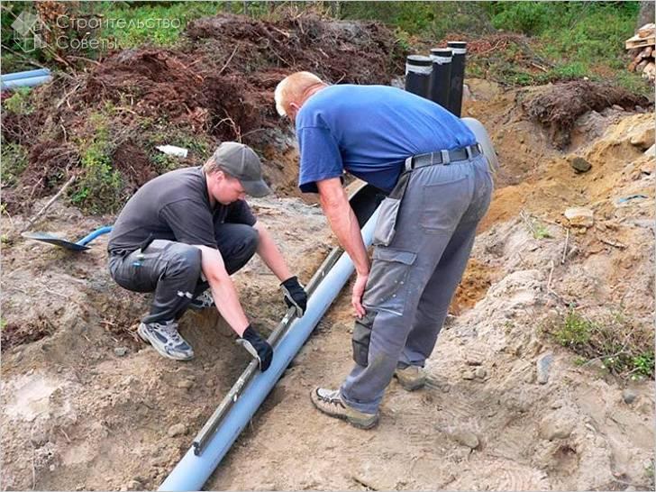 Определение угла наклона канализационных труб