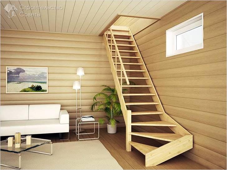 Аккуратная деревянная лестница