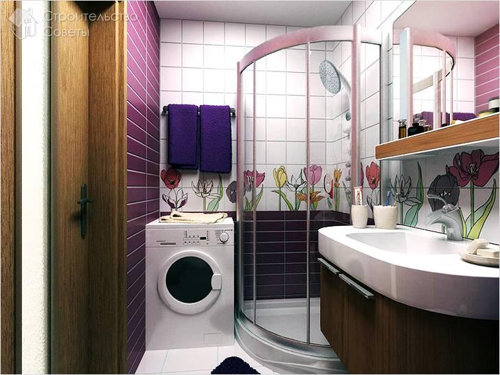 Душ-кабинка в ванной комнате