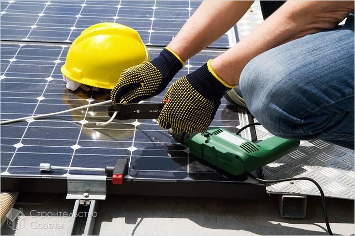 Сборка солнечной батареи