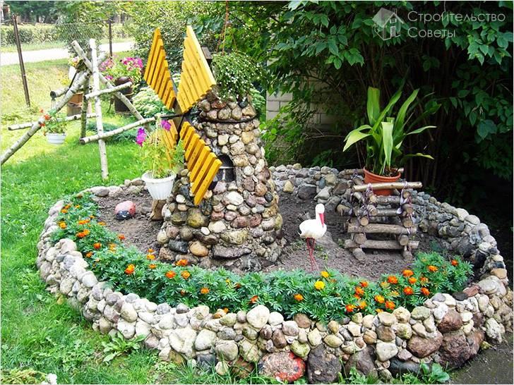Строительство каменной фальшь-мельницы