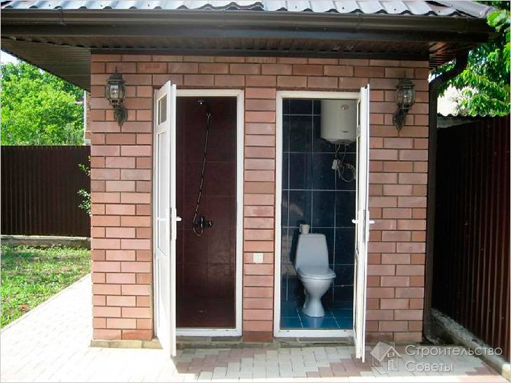 Как построить туалет на даче из кирпича своими руками поэтапно фото