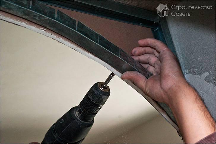 Как делать арку из гипсокартона своими руками видео