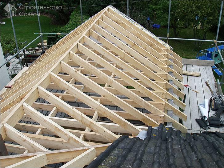 Двухскатная крыша своими руками крыша
