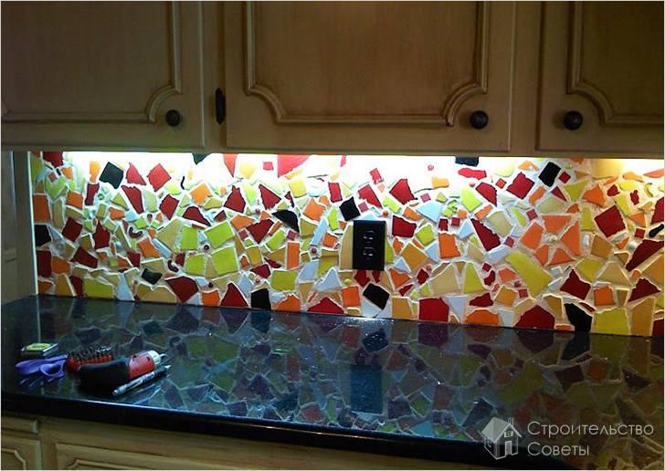 Как выложить фартук из плитки на кухне