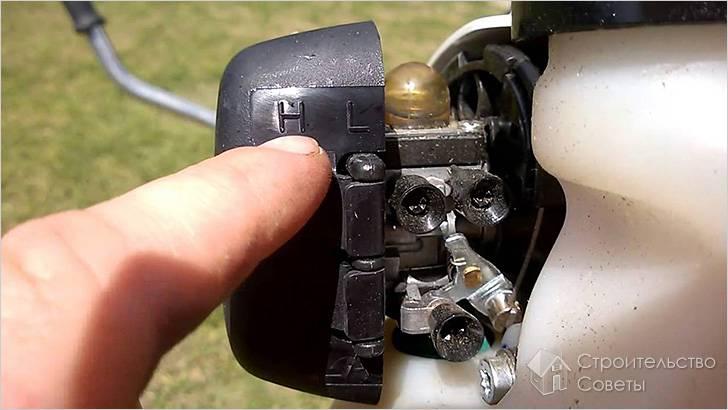 Как отрегулировать карбюратор на бензопиле