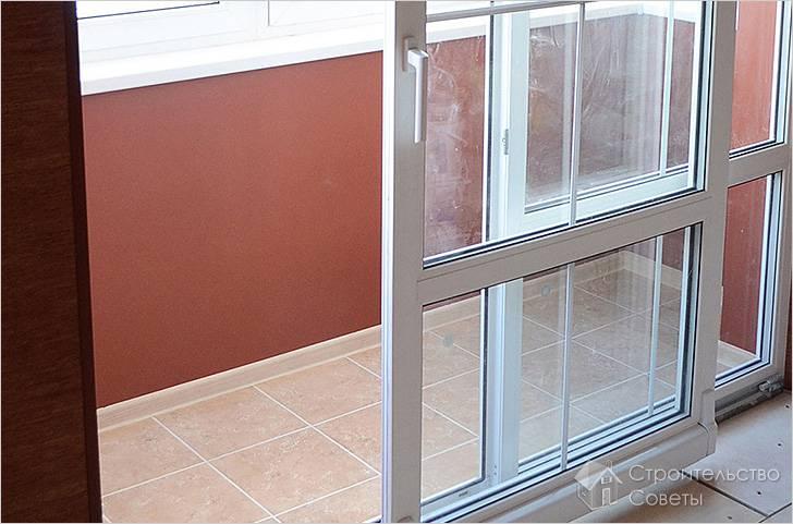 Установка балконной двери своими руками