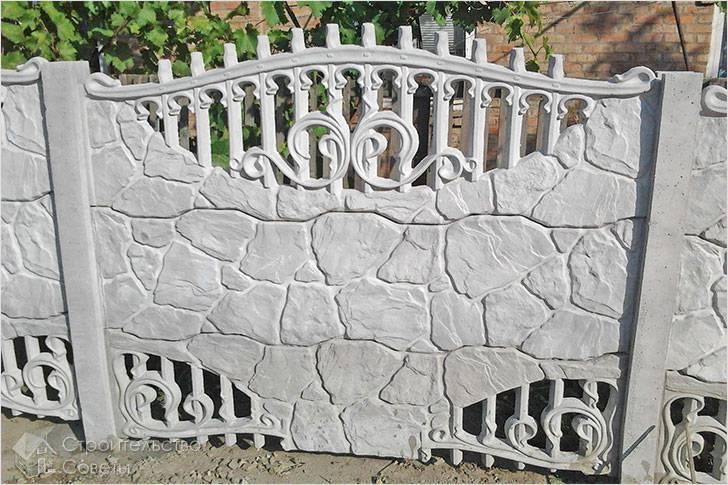 Установка бетонного забора своими руками