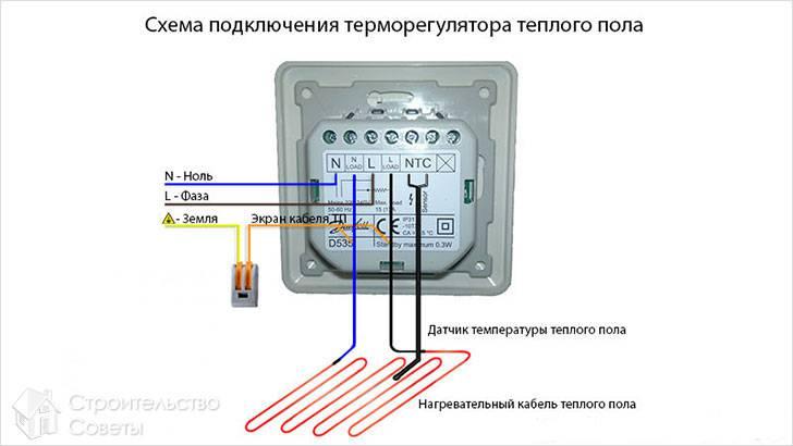 Обозначения на терморегуляторе