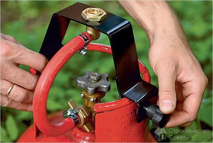 Подключение газового баллона к плите