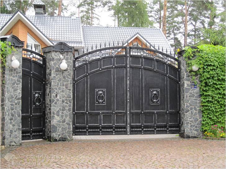 Железные ворота своими руками