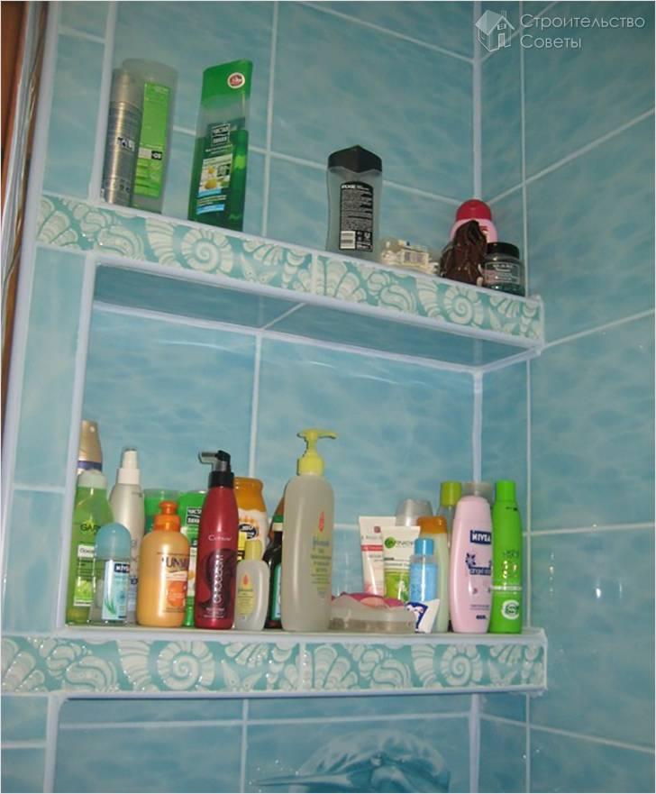Полки своими руками в ванной