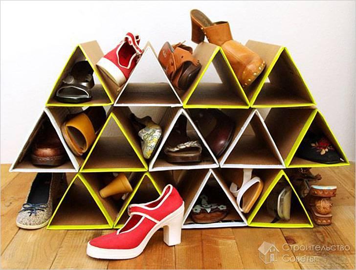 Как сделать полку для обуви своими руками