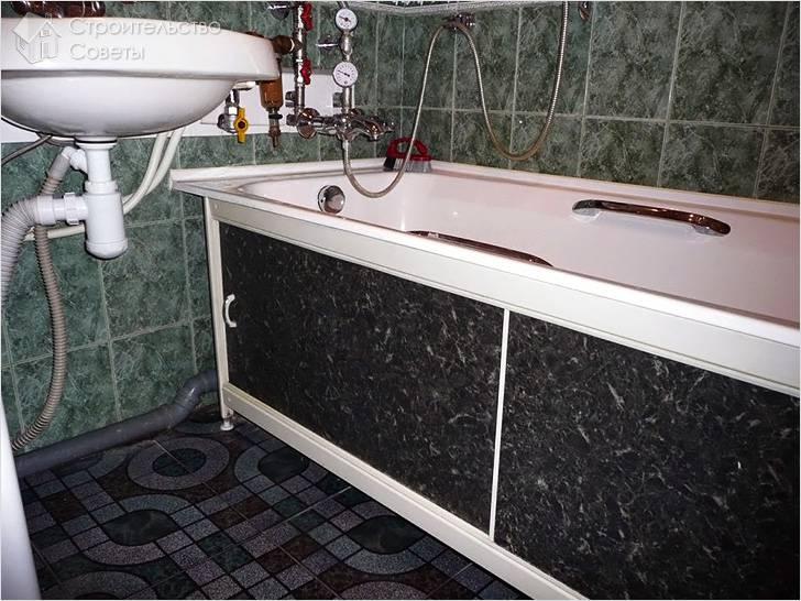 Как сделать каркас для ванны