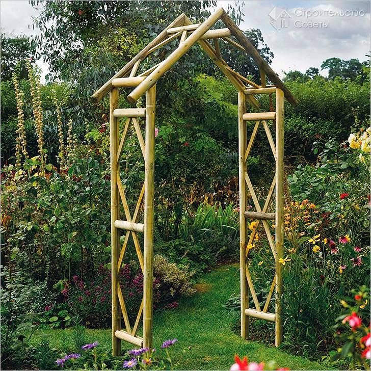 Садовые арки для вьющихся растений фото