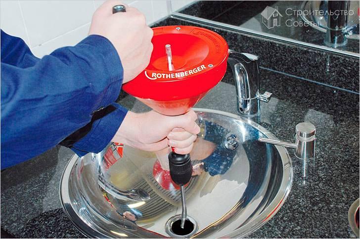 Как прочистить раковину от засора