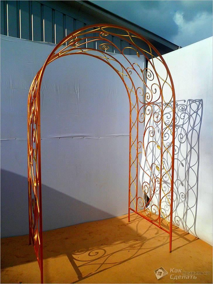 Как сделать садовую арку