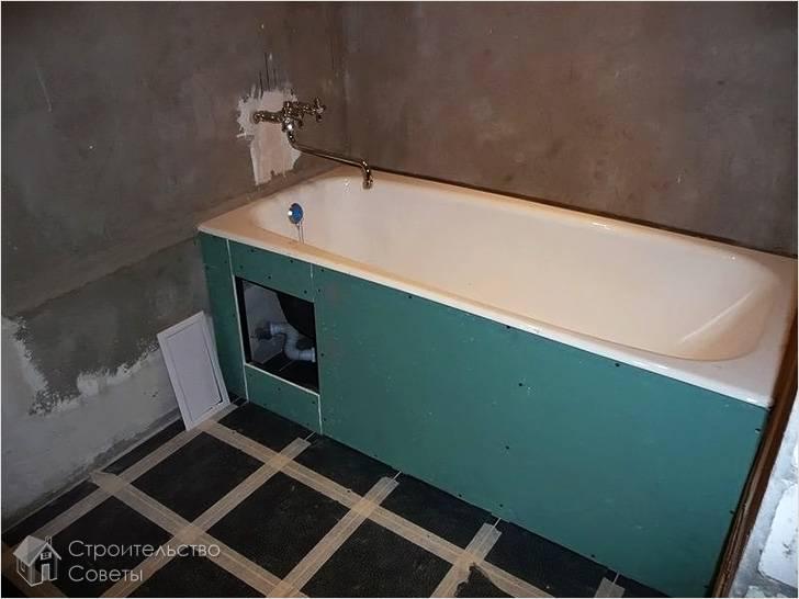 Установка стальной ванны своими руками
