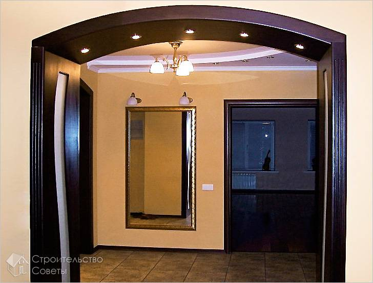 Встроенная подсветка в арку