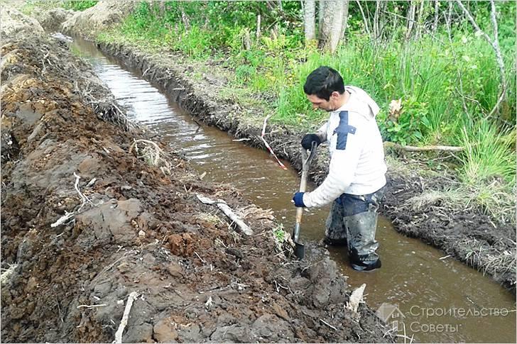 Дренаж участка своими руками на глинистых почвах