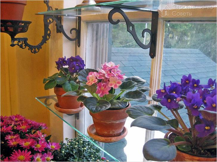 Полки для цветов своими руками с фото