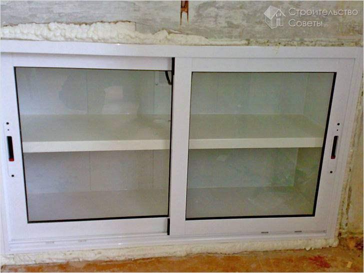 Отделка зимнего холодильника