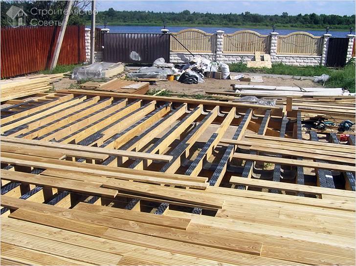 Изготовление деревянного настила