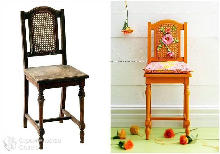 Реставрация стула до и после