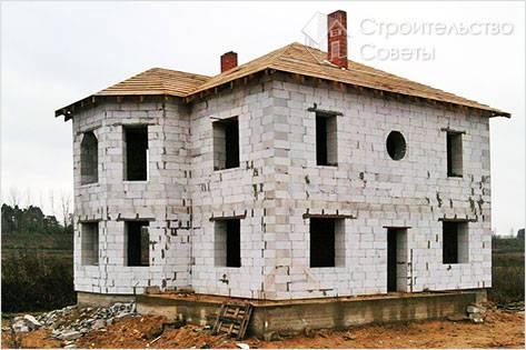 Дом из газосиликата своими руками