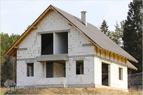 Проект дома из пеноблоков своими руками проект
