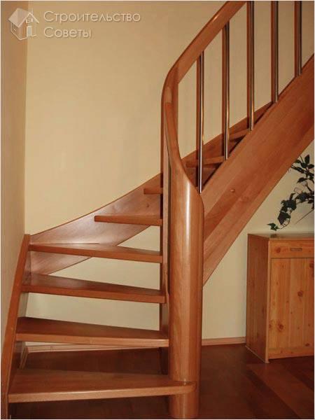 Как сделать деревянную лестницу на