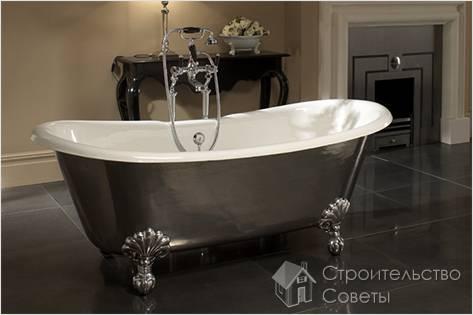 Как закрепить чугунную ванну