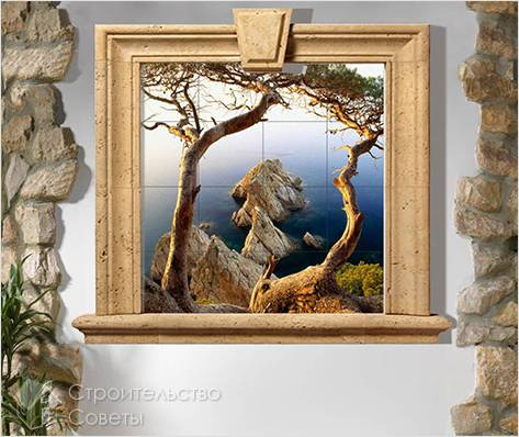 Картина фальш окно