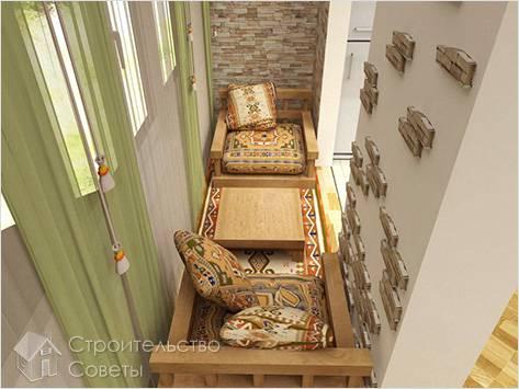 Обустройство интерьера балкона