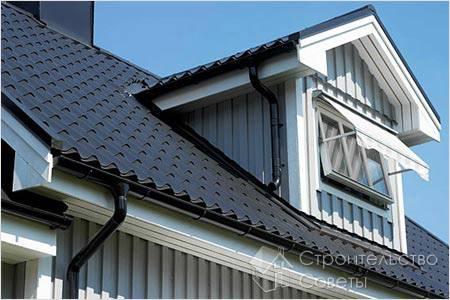 Организация водостоков крыши