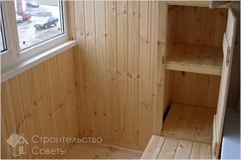 Внутренняя отделка балкона своими