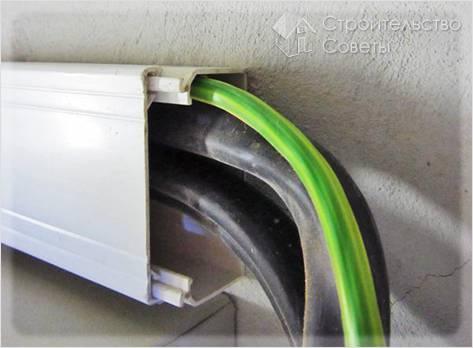 Как крепить кабель канал
