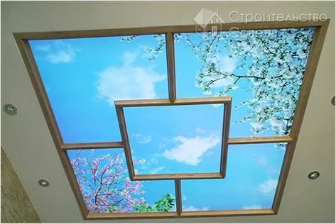 Потолочное фальш окно