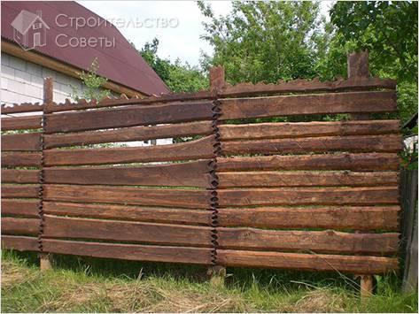 Как сделать забор из необрезной доски