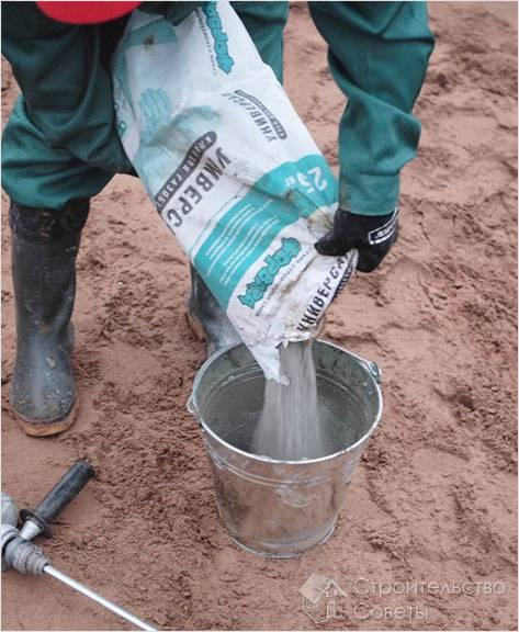 Приготовление клея для пеноблоков