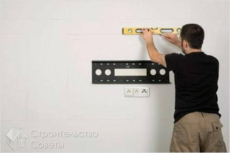 Установка телевизора на стену своими руками видео