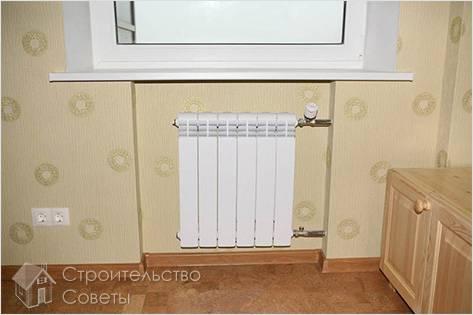 Способы крепления радиаторов