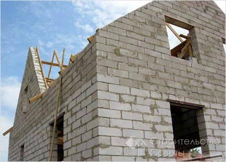 строительство дома из пеноблоков с