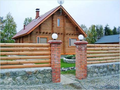 Деревянные заборы из штакетника своими руками