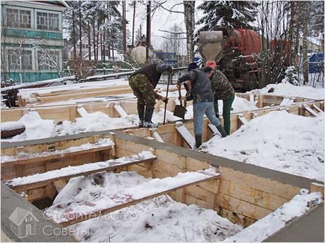 Земляные работы в зимнее время