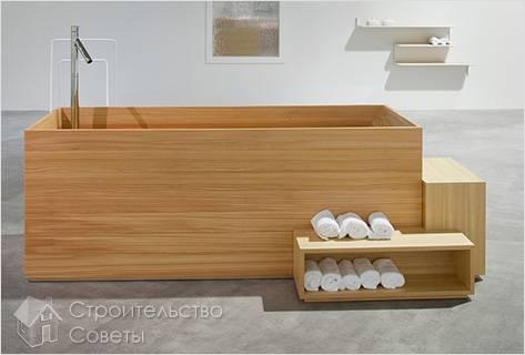 Достоинства и недостатки деревянных ванн