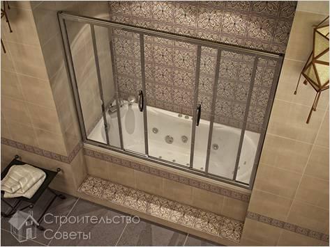Установка шторок на ванну своими руками