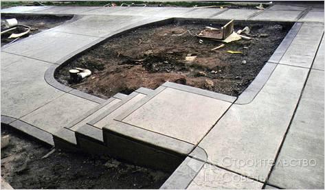 Монолитная бетонная