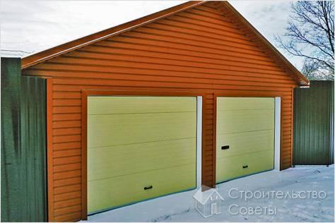 Как построить гараж на две машины